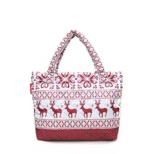 Стеганая сумка Poolparty pp4-oleni-red