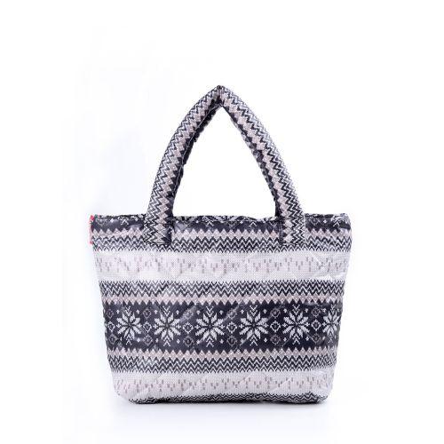 Стеганая сумка Poolparty pp11-grey