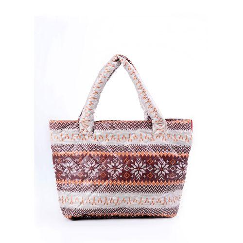 Стеганая сумка Poolparty pp11-brown
