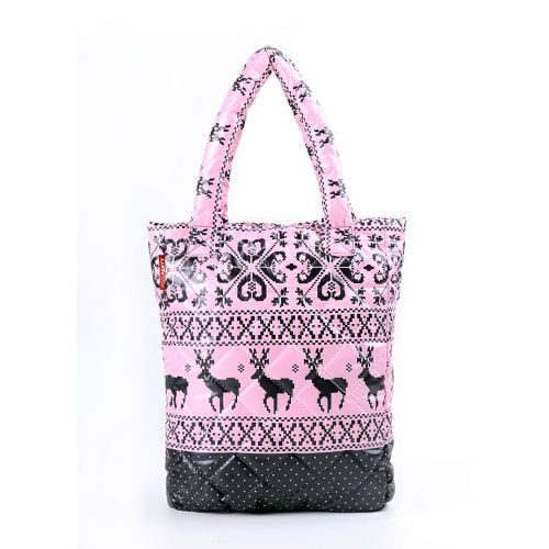 Стеганая сумка Poolparty ns1-oleni-pink