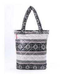 Стеганая сумка Poolparty pp10-grey