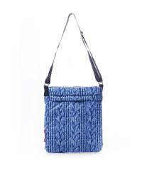 Стеганая сумка Poolparty pool-66-blue-sweater