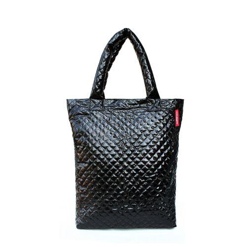 Стеганая сумка Poolparty ns3-black-laq