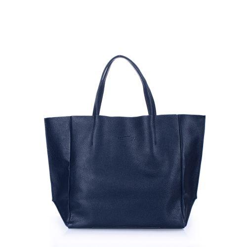 Женская кожаная сумка Poolparty soho-blue синяя