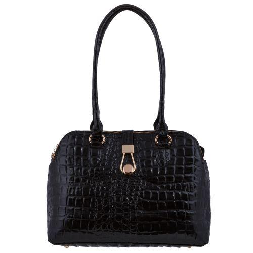 Женская сумка B1 1353 саквояж черная