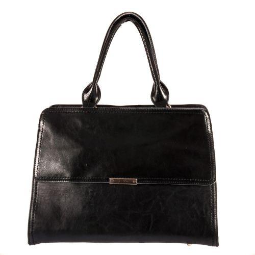 Женская сумка B1 MB040 кожаная черная
