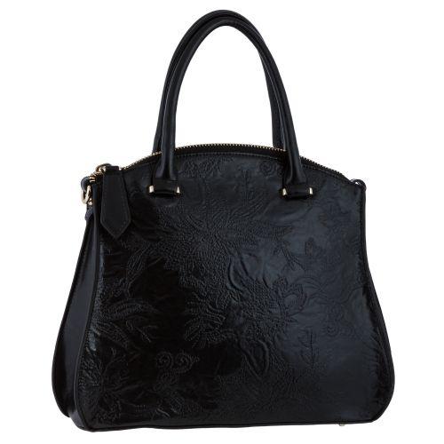 Женская сумка B1 810670 кожаная черная