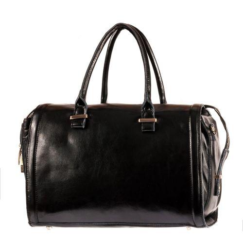 Женская сумка B1 MA011 кожаная черная