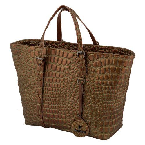 Женская сумка B1 23310 кожаная бронзовая
