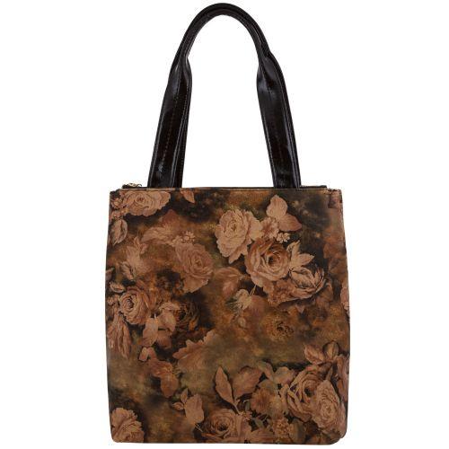Женская сумка B1 MC046 кожаная коричневая