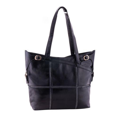 Женская сумка B1 MA005 квадраты черная
