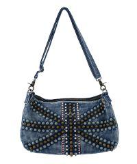 Женская сумка B1 31057 заклепки джинсовая
