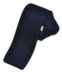 Вязаный галстук черный