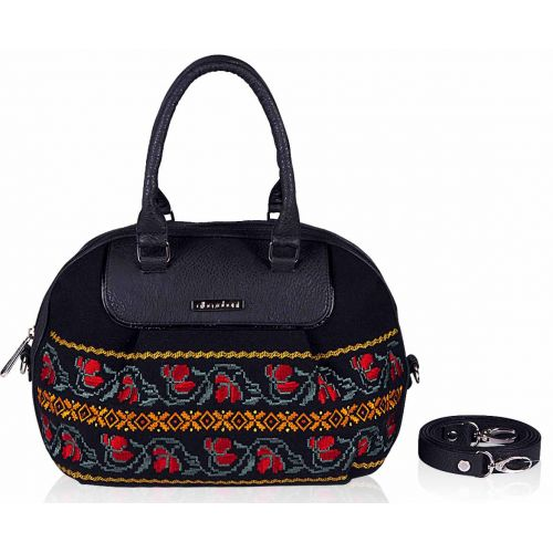 Женская сумка Alba Soboni 141340 черная с вышивкой