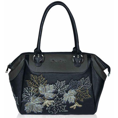 Женская сумка Alba Soboni А 141460 черно - серая