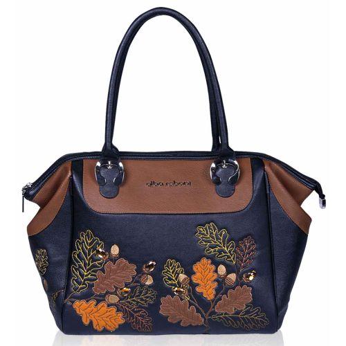 Женская сумка Alba Soboni А 141461 черно - коричневая