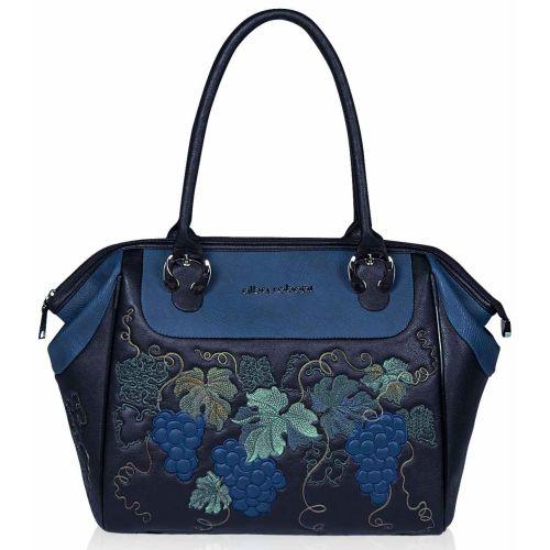 Женская сумка Alba Soboni А 141463 черно - синяя