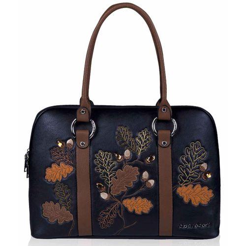 Женская сумка Alba Soboni А 141471 черно - коричневая