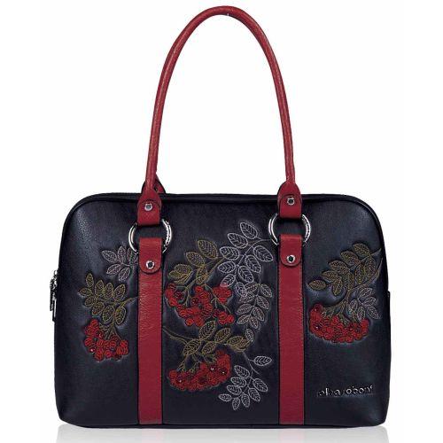 Женская сумка Alba Soboni А 141472 черно - красная