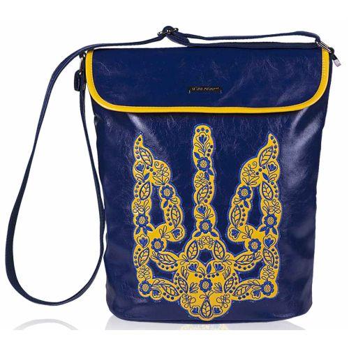 Женская сумка Alba Soboni 141630 синяя с желтым