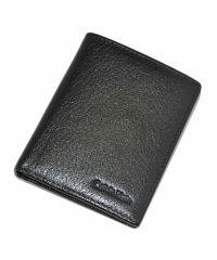 Мужской кошелек CK гладкий 2 черный