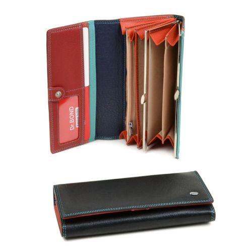 Женский кошелек dr.Bond-Rainbow ST-5 W1-V черный