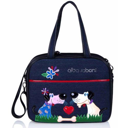 Женская сумка Alba Soboni 140604 синяя с черным