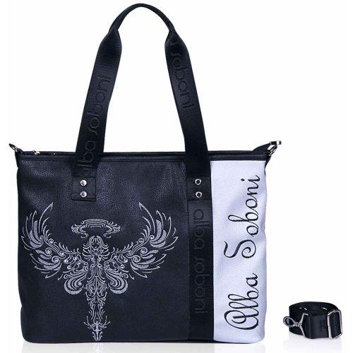Женская сумка Alba Soboni А 141490 черная с серебристым