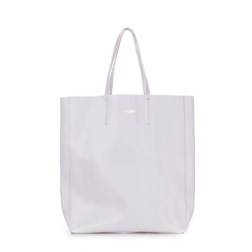 Женская кожаная сумка Poolparty city-safyan-lightblue голубая