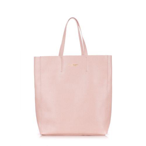 Женская кожаная сумка Poolparty city-safyan-peach персиковая
