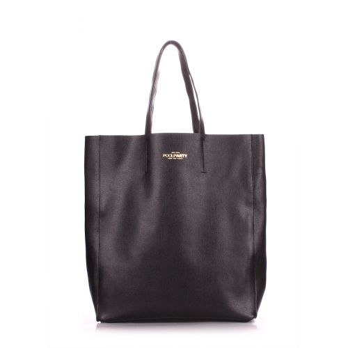 Женская кожаная сумка poolparty-city-safyan-black черная