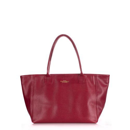 Женская кожаная сумка Poolparty desire-safyan-scarlet вишневая