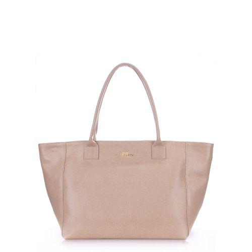 Женская кожаная сумка Poolparty desire-safyan-beige бежевая