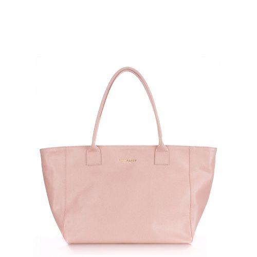 Женская кожаная сумка Poolparty desire-safyan-peach персиковая