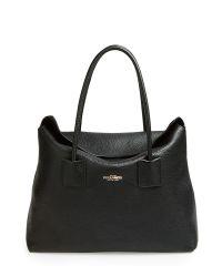 Женская кожаная сумка sense-black черная