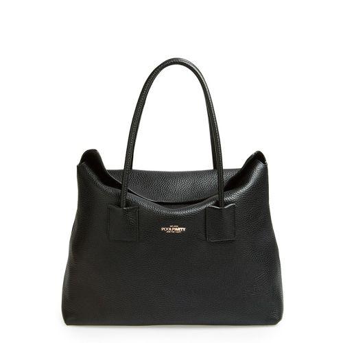 Женская кожаная сумка poolparty-sense-black черная