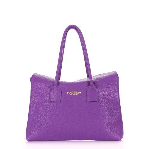 Женская кожаная сумка poolparty-sense-violet фиолетовая