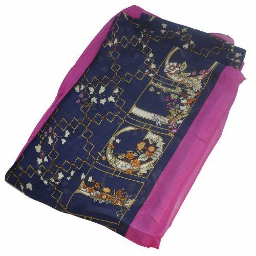 Шелковый шарф Gucci Sad синий