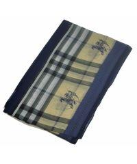 Шелковый шарф B классика синий