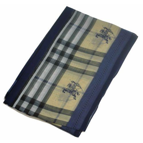 Шелковый шарф Burberry классика синий