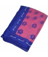 Шелковый шарф C розы малиновый