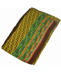 Шелковый шарф FF радуга желтый