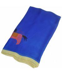 Шелковый шарф H Funny Horse синий