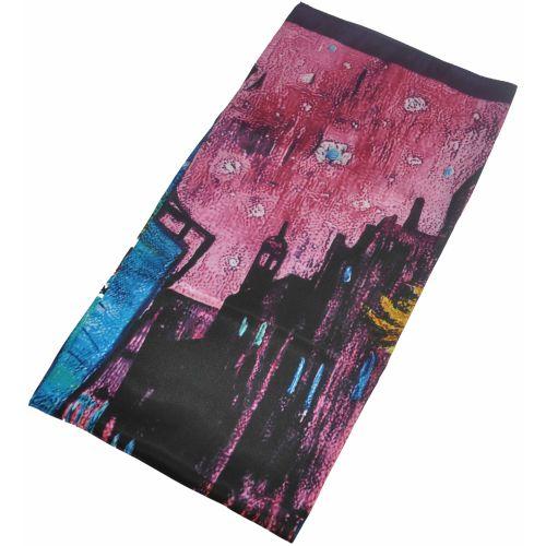 Шелковый платок Fashion город розовый