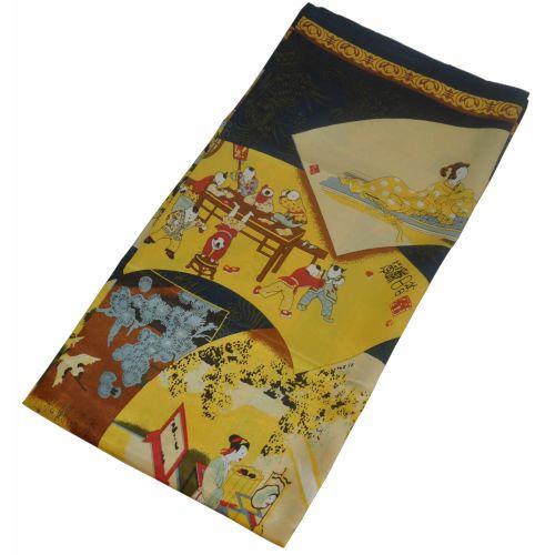 Шелковый платок Fashion Япония черный