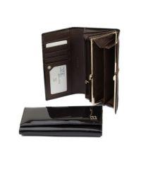 Женский кошелек dr.Bond W1-V лак темно-коричневый