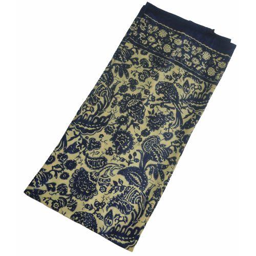 Шелковый платок Fashion сад бежевый