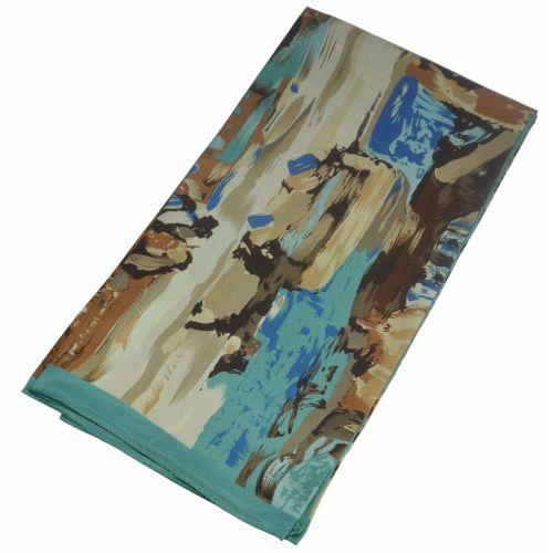 Шелковый платок Fashion картина маслом бежевая
