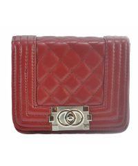 Женская сумка Chanel Boy Mini вишневая