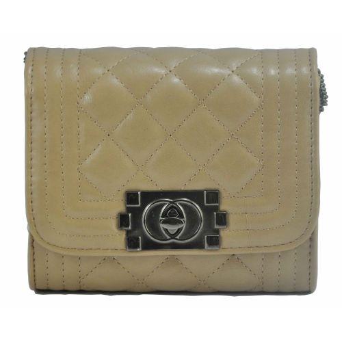 Женская сумка Chanel Boy Mini бежевая